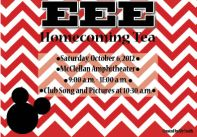 Postcard invitation for sorority homecoming event.