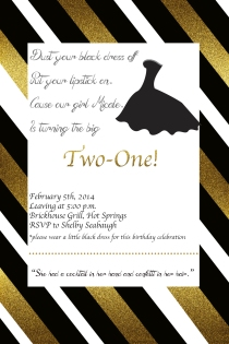 Custom designed party invitation