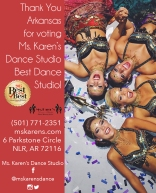 Ms. Karen's Dance Studio advertisement for social media and website.