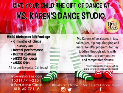 Ms. Karen's Dance Studio advertisement published in the Kid's Directory. Also used website and social media.