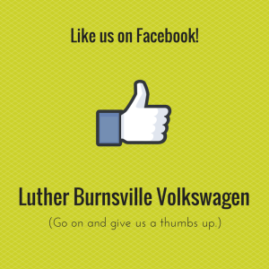 Social media graphic for Luther Burnsville Volkswagen