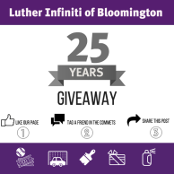 Social media graphic for Luther Infiniti of Bloomington